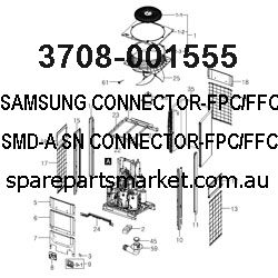 3708-001555-CONNECTOR-FPC/FFC/PIC;20P,1MM,SMD-A,SN