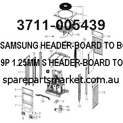 3711-005439-HEADER-BOARD TO BOARD;NOWALL,9P,1.25MM,S