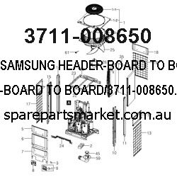 3711-008650-HEADER-BOARD TO BOARD