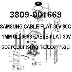 3809-001669-CABLE-FLAT;30V,80C,240MM,15P,1MM,UL20696