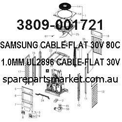 3809-001721-CABLE-FLAT;30V,80C,40MM,15P,1.0MM,UL2896