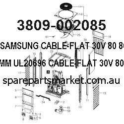 3809-002085-CABLE-FLAT;30V,80,80MM,15P,1MM,UL20696