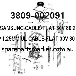 3809-002091-CABLE-FLAT;30V,80,260MM,13P,1.25MM,UL