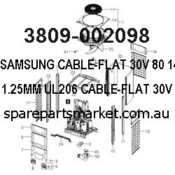 3809-002098-CABLE-FLAT;30V,80,140MM,13P,1.25MM,UL206