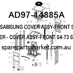 SAMSUNG COVER ASSY-FRONT;S4-73,SILVER,-