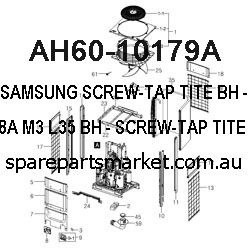 AH60-10179A-SCREW-TAP TITE BH;-,SWRCH18A,M3,L35,BH,-