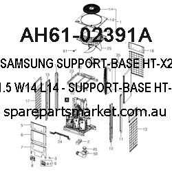 AH61-02391A-SUPPORT-BASE;HT-X250,ABS,T1.5,W14,L14,-,