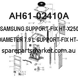 AH61-02410A-SUPPORT-FIX;HT-X250,BE/CU,DIAMETER 7.9,L