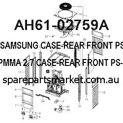AH61-02759A-CASE-REAR FRONT;PS-X720,ABS+PMMA,2.7