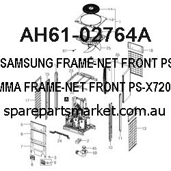 AH61-02764A-FRAME-NET FRONT;PS-X720,ABS+PMMA