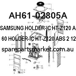 AH61-02805A-HOLDER-IC;HT-Z120,ABS,2,12,60