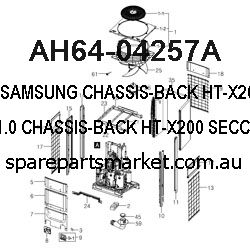 AH64-04257A-CHASSIS-BACK;HT-X200,SECC,T1.0