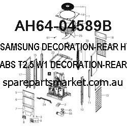 AH64-04589B-DECORATION-REAR;HT-X715T/XEF,ABS,T2.5,W1