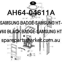 AH64-04611A-BADGE;HT-X810,AL,T1.1,W60,-,-,BLACK,HAIR