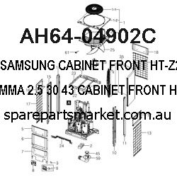 AH64-04902C-CABINET FRONT;HT-Z220,ABS+PMMA,2.5,30,43