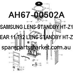 AH67-00502A-LENS-STANDBY;HT-Z110,PMMA,CLEAR,11,T12