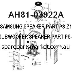 AH81-03922A-SPEAKER-PART;PS-Z110,PS-WZ110,SUBWOOFER