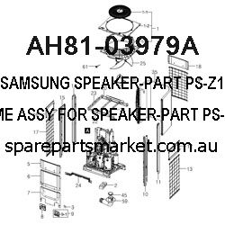 AH81-03979A-SPEAKER-PART;PS-Z110,NET FRAME ASSY,FOR