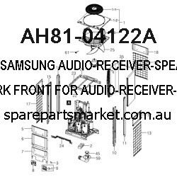 AH81-04122A-AUDIO-RECEIVER-SPEAKER;NETWORK FRONT,FOR