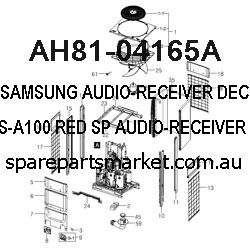 AH81-04165A-AUDIO-RECEIVER;DECO-R,FOR PS-A100,RED SP