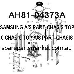 AH81-04373A-A/S PART-CHASIS TOP;PS-WX810,CHASIS TOP,