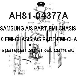 AH81-04377A-A/S PART-EMI-CHASIS;PS-WX810,EMI-CHASIS,