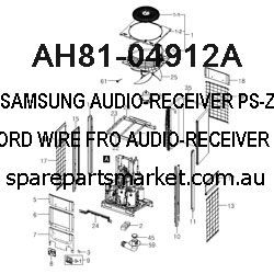 AH81-04912A-AUDIO-RECEIVER;PS-Z220,SPK CORD WIRE,FRO