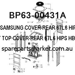 BP63-00431A-COVER-REAR;67L6,HIPS,HB,GRAY,TOP