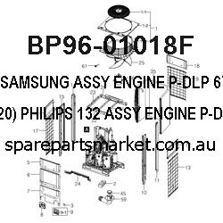 BP96-01018F-ASSY ENGINE P-DLP;67L6(L620),PHILIPS 132