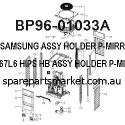 BP96-01033A-ASSY HOLDER P-MIRROR RIGHT;67L6,HIPS HB,