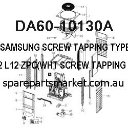 DA60-10130A-SCREW TAPPING TYPE;TH,-,-,2S,M4.2,L12,ZPC(WHT