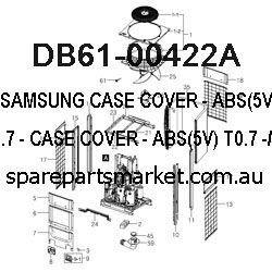 DB61-00422A-CASE COVER;-,ABS(5V),T0.7,,-