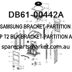 DB61-00442A-BRACKET-PARTITION;AW18D0MC,PP,T2,-,-,BLK