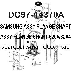 SAMSUNG ASSY FLANGE SHAFT;6205/6204,,,,,,