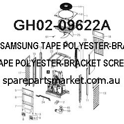 GH02-09622A-TAPE POLYESTER-BRACKET SCREW