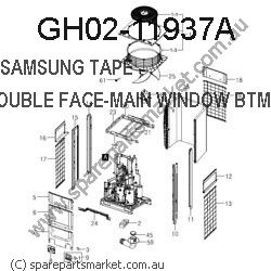 GH02-11937A-TAPE DOUBLE FACE-MAIN WINDOW REAR TOP