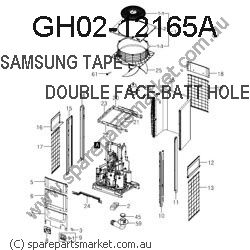GH02-12165A-TAPE DOUBLE FACE-FRONT RCV