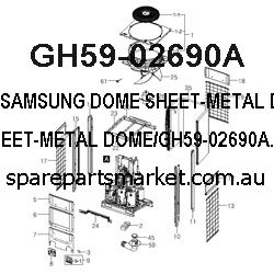 GH59-02690A-DOME SHEET-METAL DOME