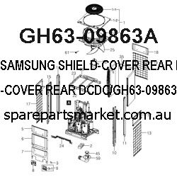 GH63-09863A-SHIELD-COVER REAR DCDC