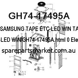GH74-17495A-TAPE ETC-LED WIN