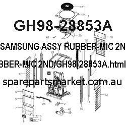 GH98-28853A-ASSY RUBBER-MIC 2ND