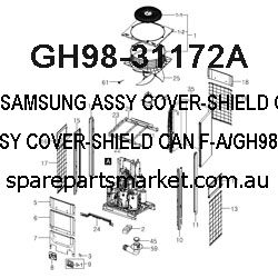 GH98-31172A-ASSY COVER-SHIELD CAN F-A