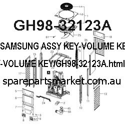 GH98-32123A-ASSY KEY-VOLUME KEY