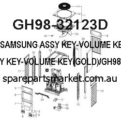 GH98-32123D-ASSY KEY-VOLUME KEY(GOLD)